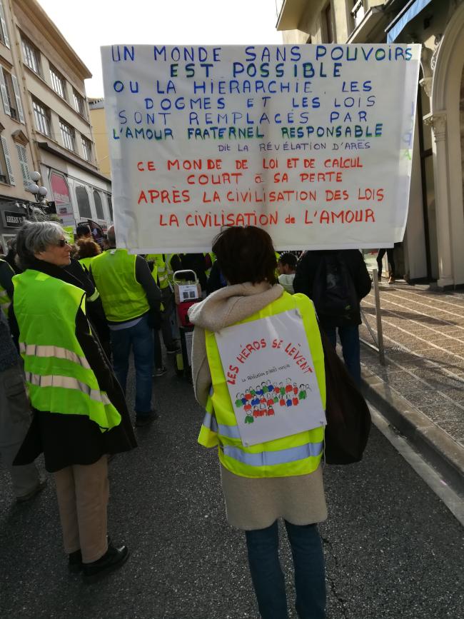 Les gilets jaunes et les Pèlerins d'Arès Nice-23-02-2019-4