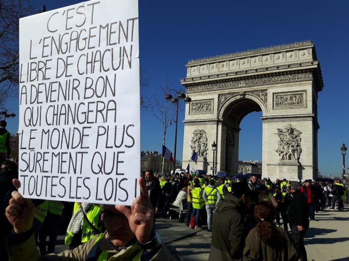 Les gilets jaunes et les Pèlerins d'Arès Paris-23-02-2019_3