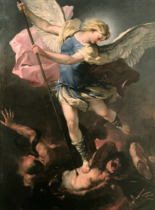 st-Michael brings down the devil