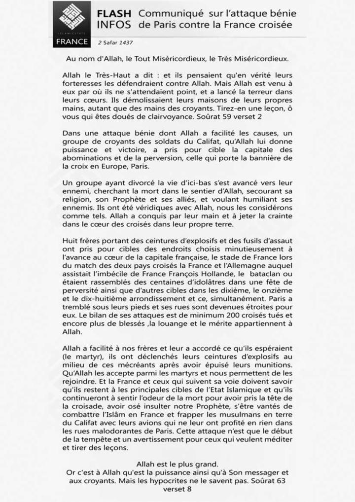 Revendication de Daech pour le Bataclan 63fdd4536f1a