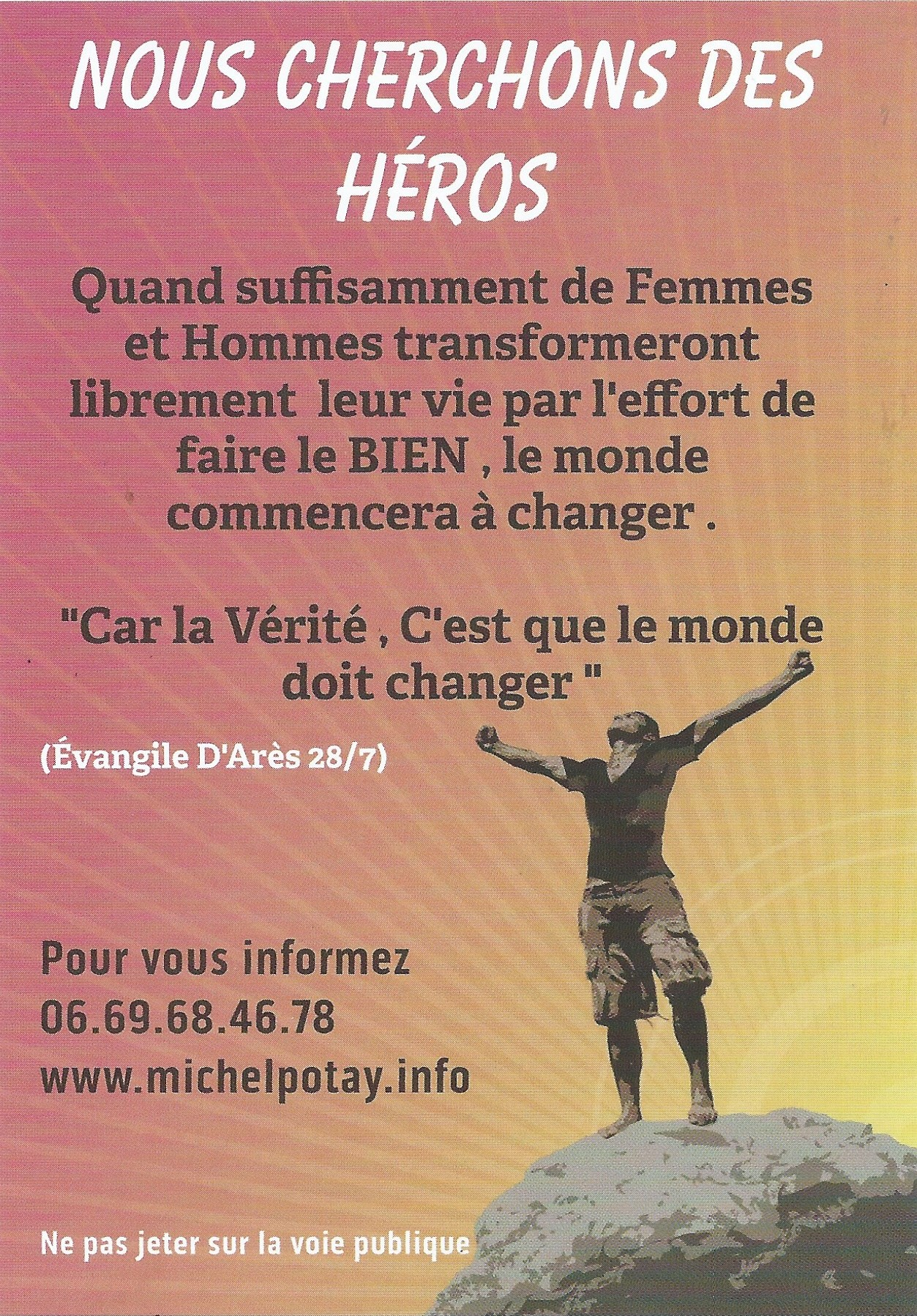 Tract de Philippe et Maryse Valence, recto