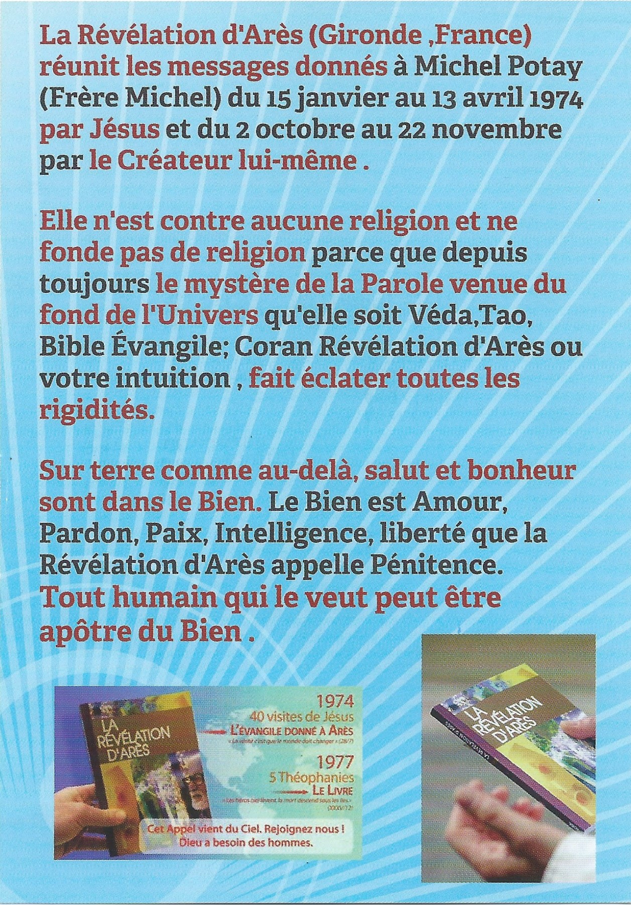 Tract de Philippe et Maryse Valence, verso
