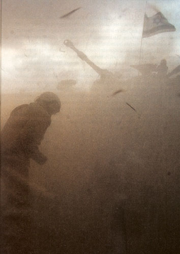 Israel Army in the sand storm